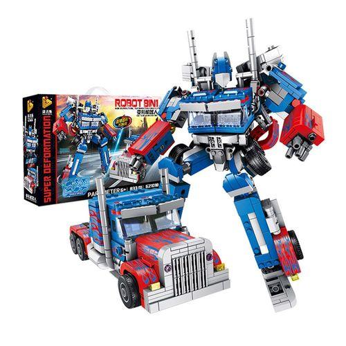 Puzzles Educacional tijolo Transformer Blocos Action Figure Bumble ...